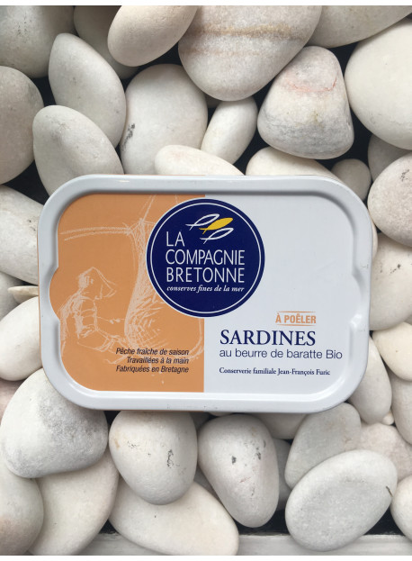 sardine beurre de baratte bio