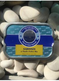 Sardines à l'huile d'olive Bio (port de St-Gué)