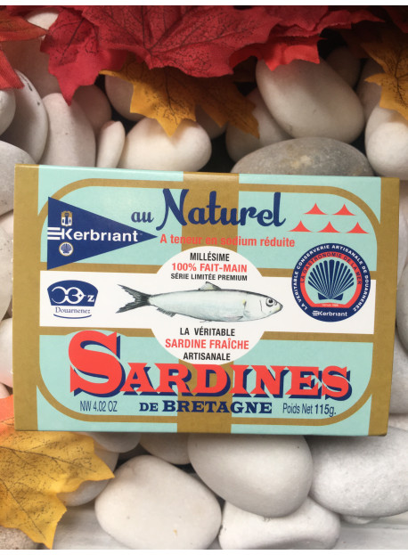 1/6 sardine au naturel KERBRIANT