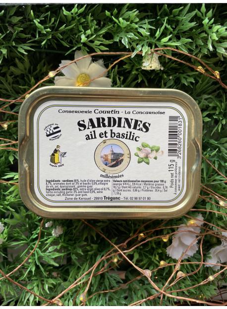 Sardine ail et basilic
