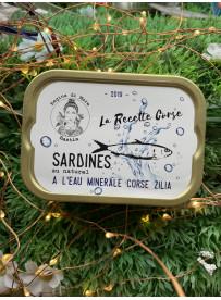 Sardines Eau Minérale de Zilia Corse