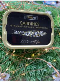 Coffret sardines aux paillettes d'or