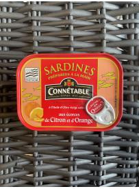 Sardines huile d'olive aux écorces de citron & orange