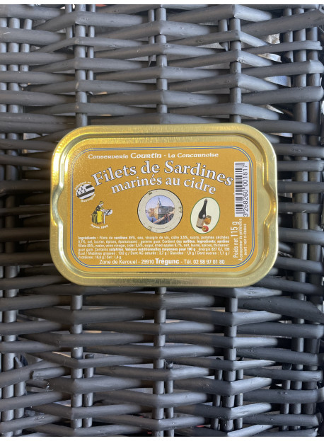Filets de sard marinés au cidre